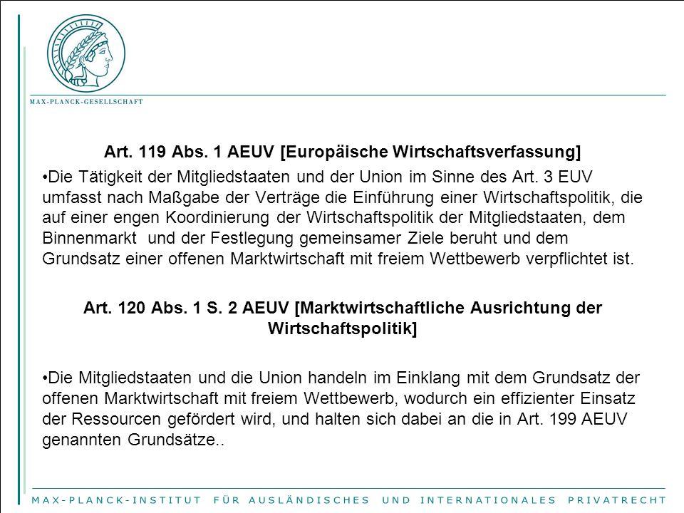 Art. 119 Abs. 1 AEUV [Europäische Wirtschaftsverfassung]